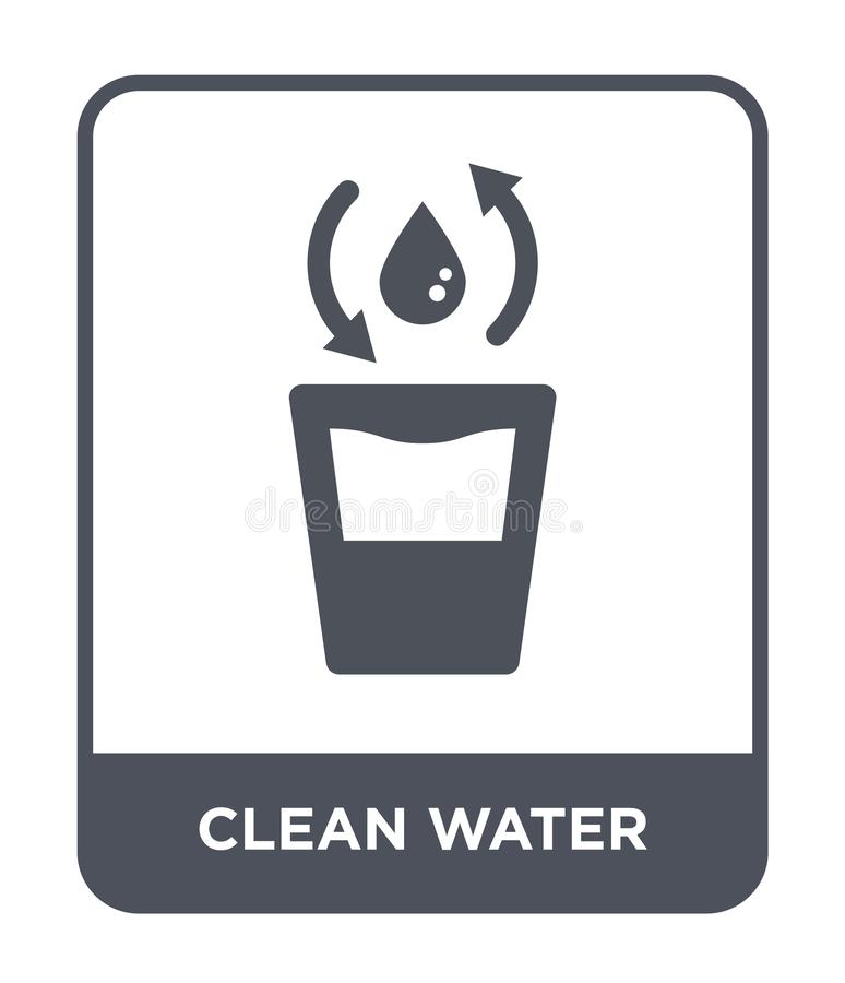 Clean water icon in trendy design style. clean water icon isolated on white background. clean water vector icon simple and modern. Flat symbol for web site vector illustration