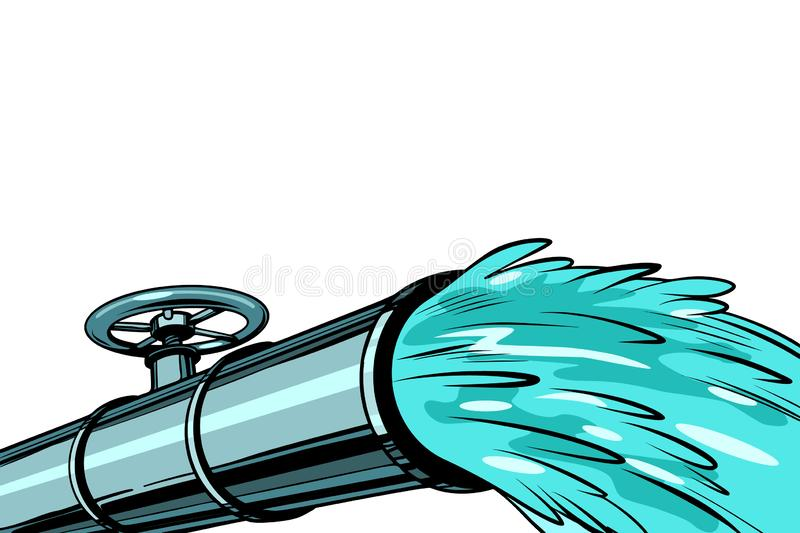 Clean water pipe for irrigation and drinking stock illustration