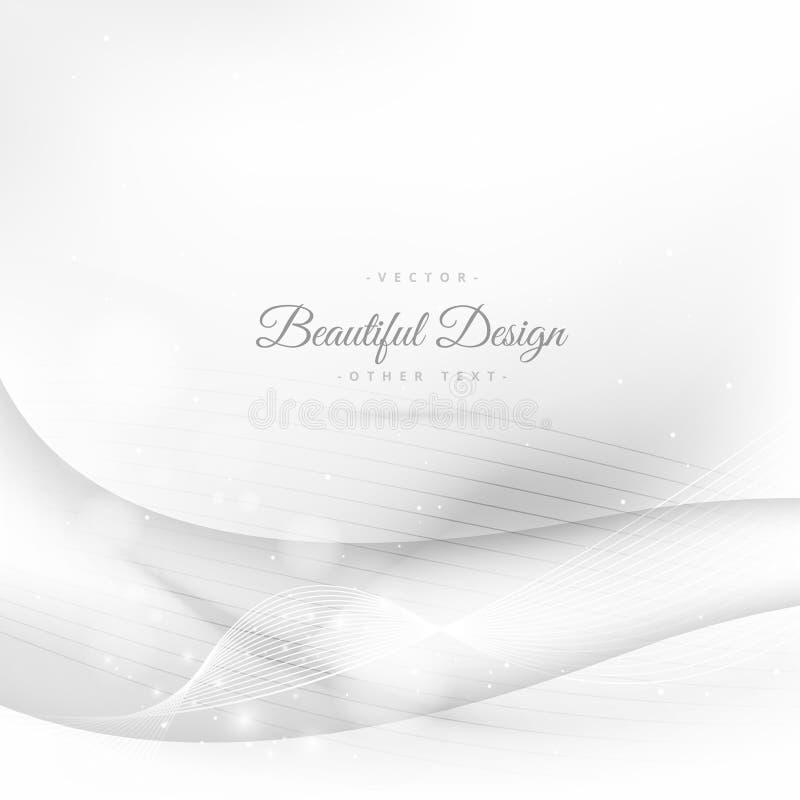 Clean wave background. Vector design stock illustration