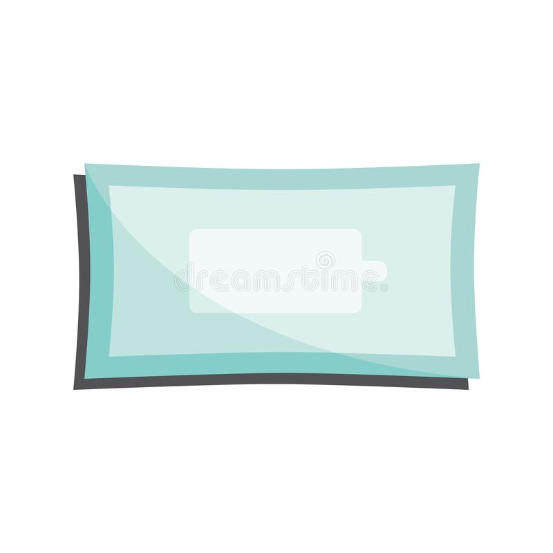 Clean wet wipes in closed package isolated on white background. Clean wet wipes in closed package isolated on white background - antibacterial napkins pack vector illustration