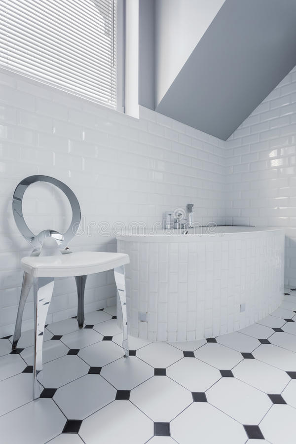 Clean white bathroom stock photography