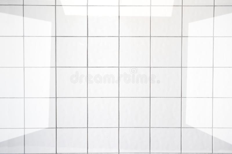 Clean white bathroom tiles. Image related to hygiene and cleanliness in the home and kitchen royalty free stock photo