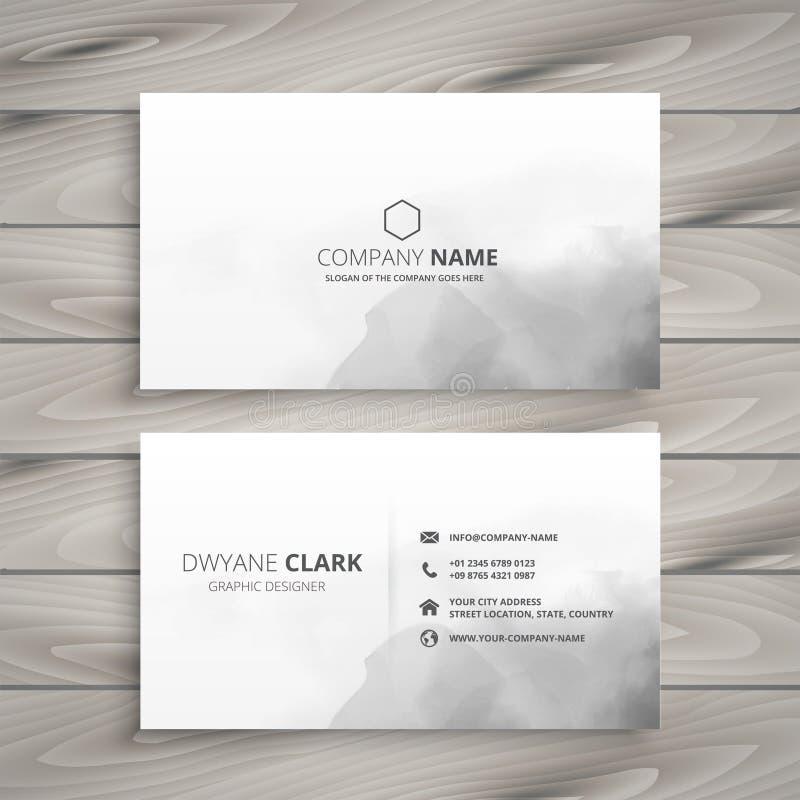 Clean white business card design vector illustration
