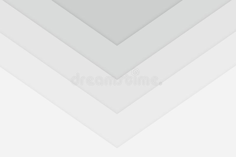 Clean white cubtle arrow style background. Vector stock illustration