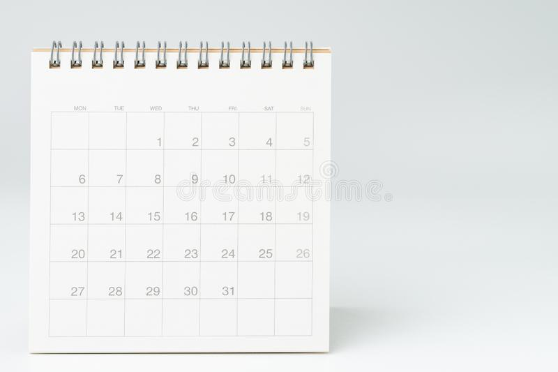 Usi Calendar.Desktop Calendar With Red Circle On Last Day 31 Important