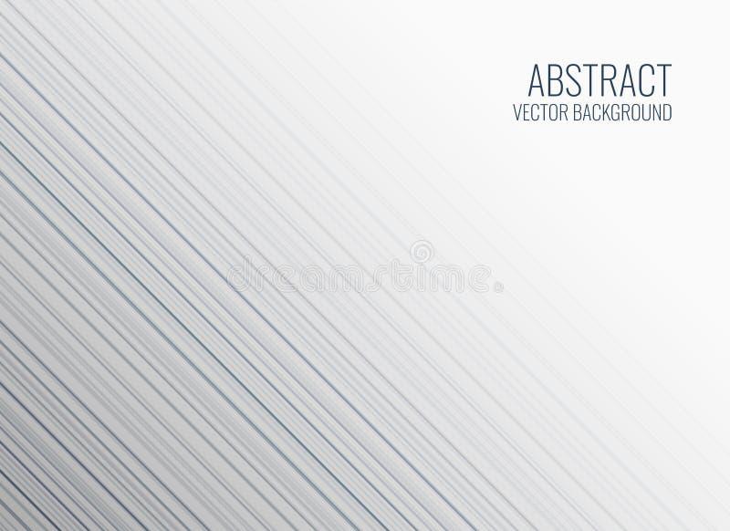Clean white lines background design stock illustration