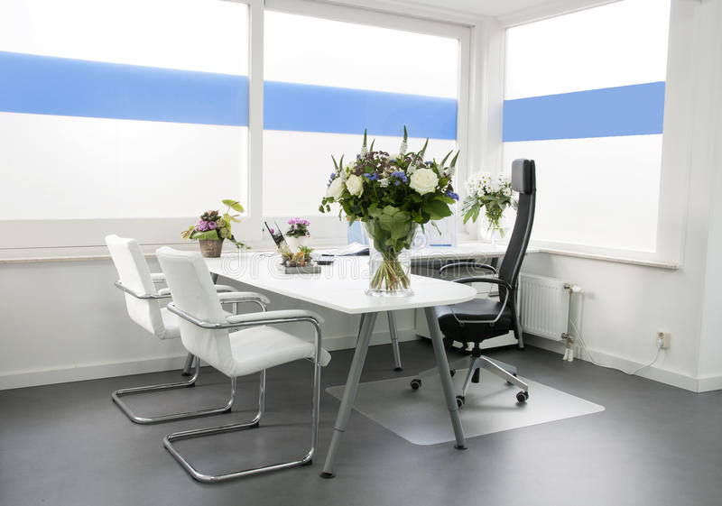 Clean white office