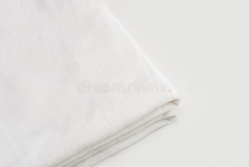 Clean White Towel stock photos