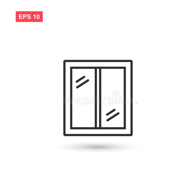 Clean window vector icon design isolated royalty free illustration