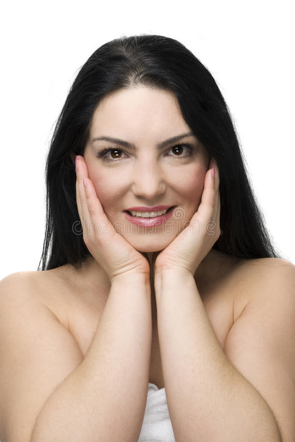 Download Clean woman face skin stock photo. Image of happy, bodycare - 12728842
