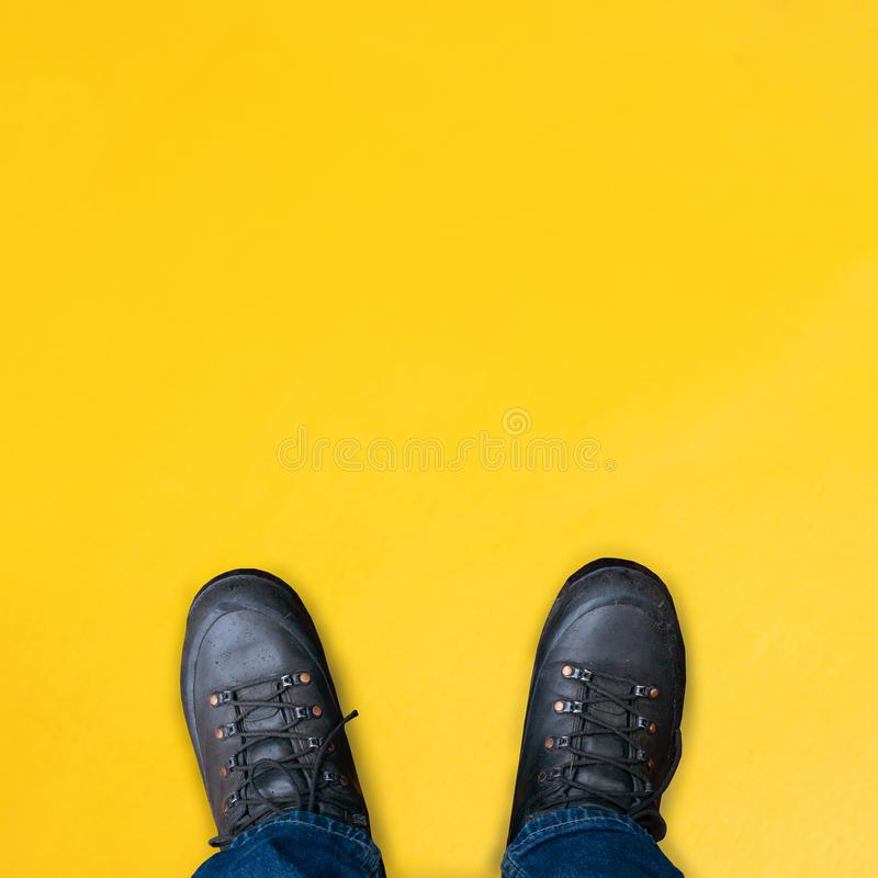 Clean yellow wooden background with simple surface. High resolution photo. Color wood, empty space stock photos