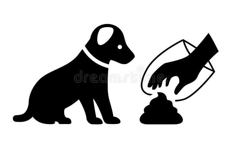 Clean after your dog vector icon vector illustration