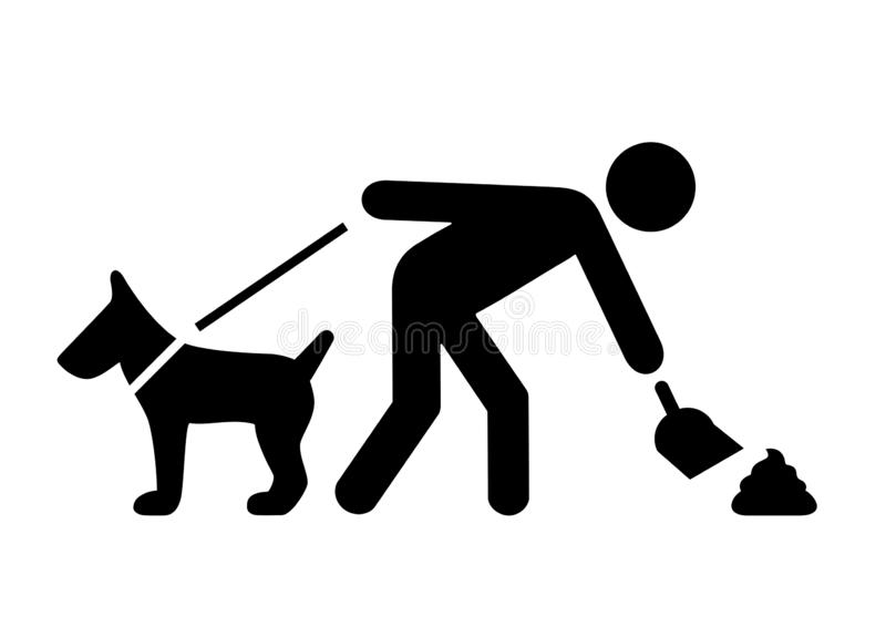 Clean after your dog vector pictogram vector illustration