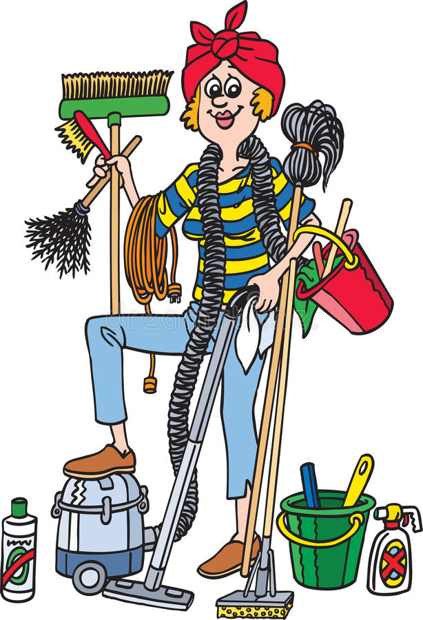 cleaner ilustracja wektor