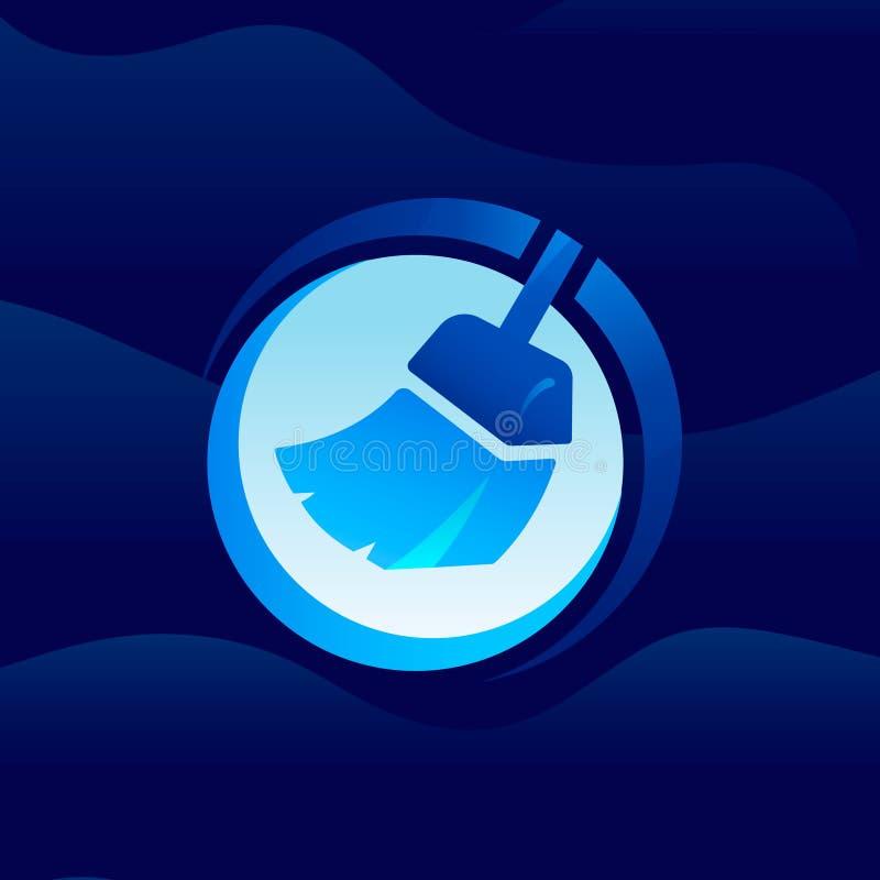 Cleaner icon / logo. Art illustration royalty free illustration