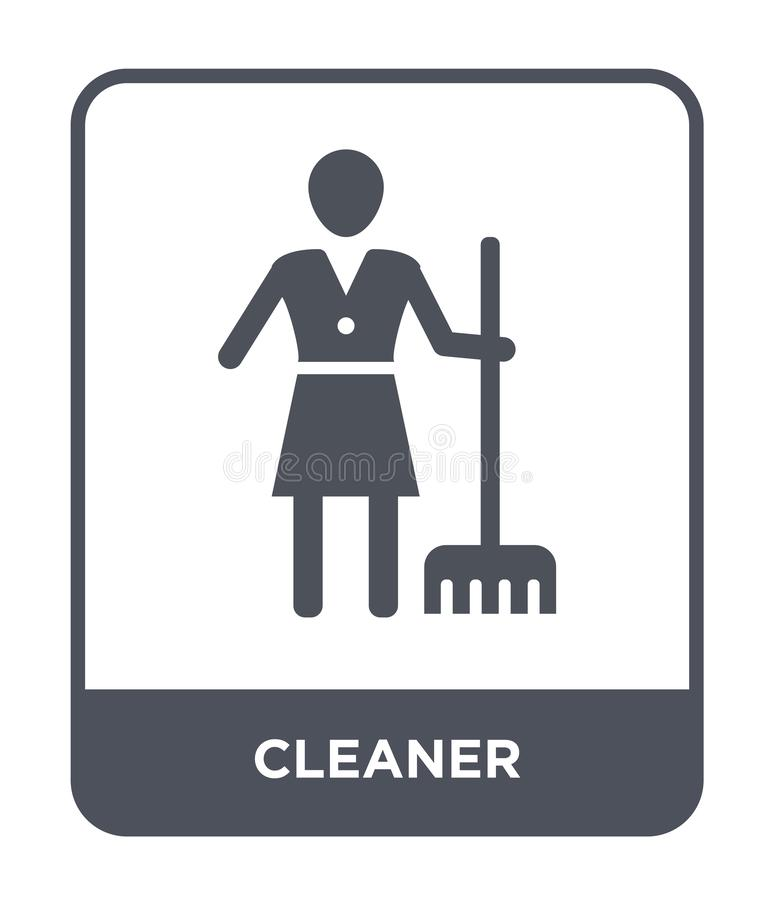 cleaner icon in trendy design style. cleaner icon isolated on white background. cleaner vector icon simple and modern flat symbol stock illustration