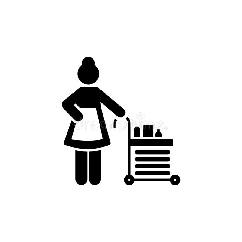 Cleaner, janitor, maid, hotel, maintenance icon. Element of hotel pictogram icon. Premium quality graphic design icon. Signs and. Symbols collection icon on stock illustration