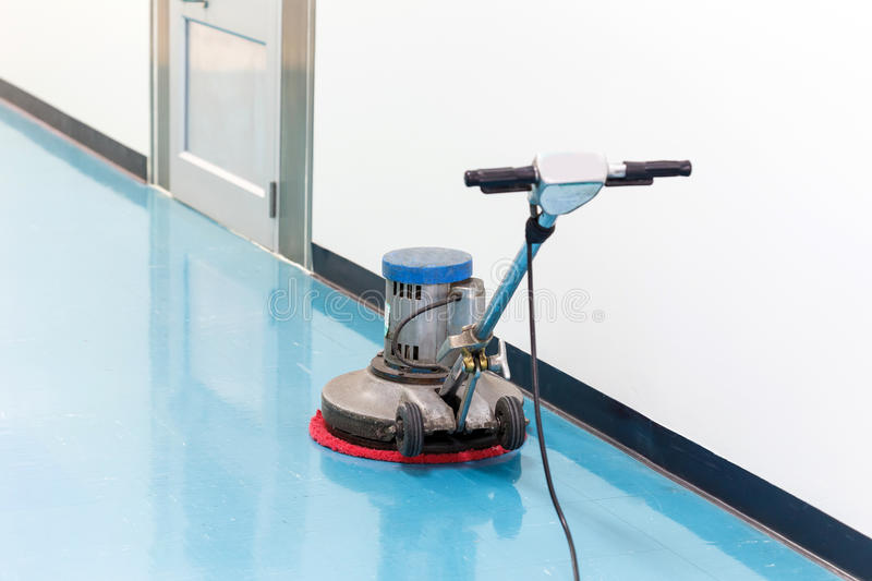 Cleaner machine for floor. A cleaner machine for floor stock photography