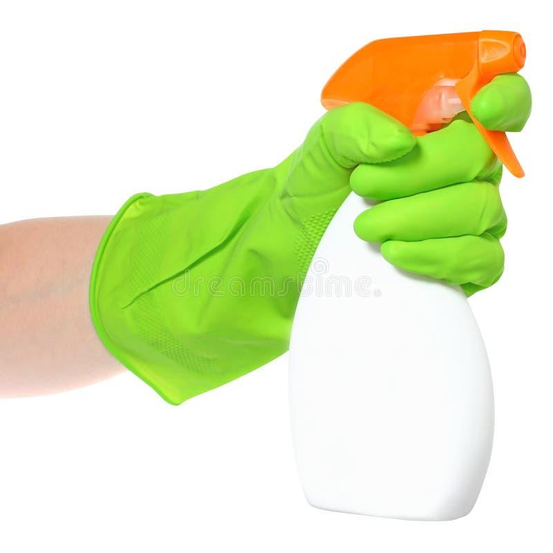 Cleaner w ręce zdjęcia royalty free