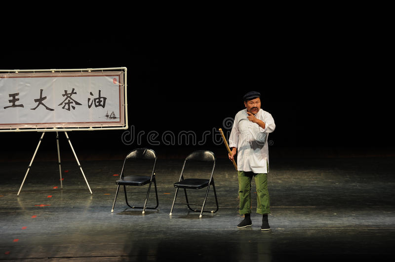 Cleaners -The story of Camellia Oil-People in the big stage. In November 10, 2014, the people of the big stage public performances in Nanchang performance. This royalty free stock image