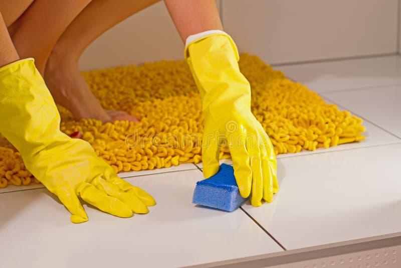 Cleaning łazienka obraz royalty free