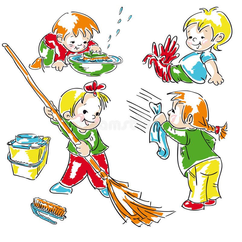 Download Cleaning stock vector. Image of illustration, brush, friendship - 28497287
