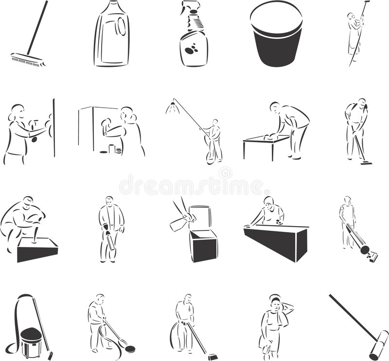 Cleaning vector illustration