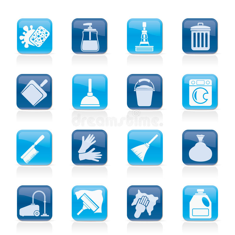 Free Cleaning And Hygiene Icons Royalty Free Stock Image - 36478166