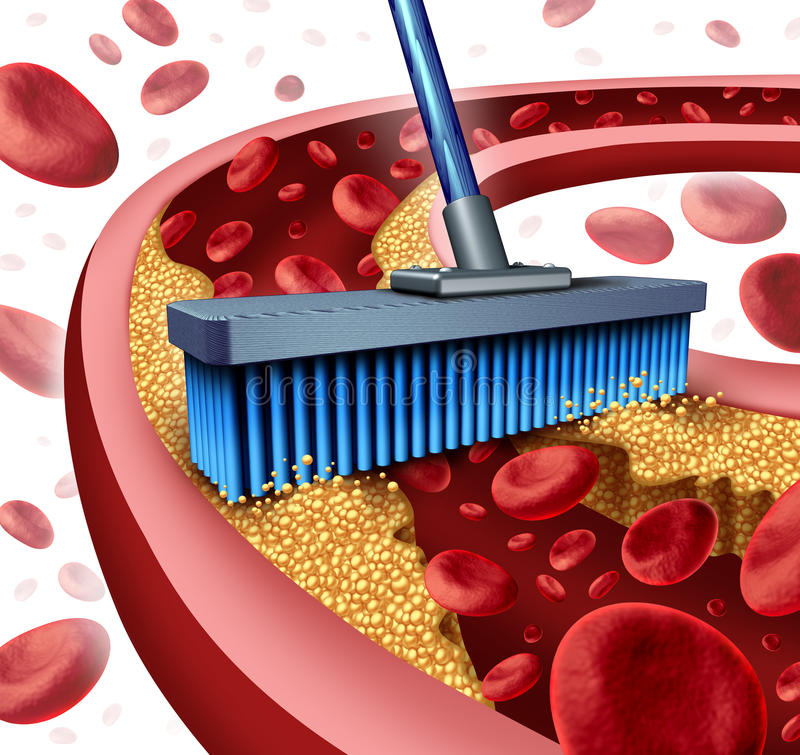 Cleaning Arteries vector illustration