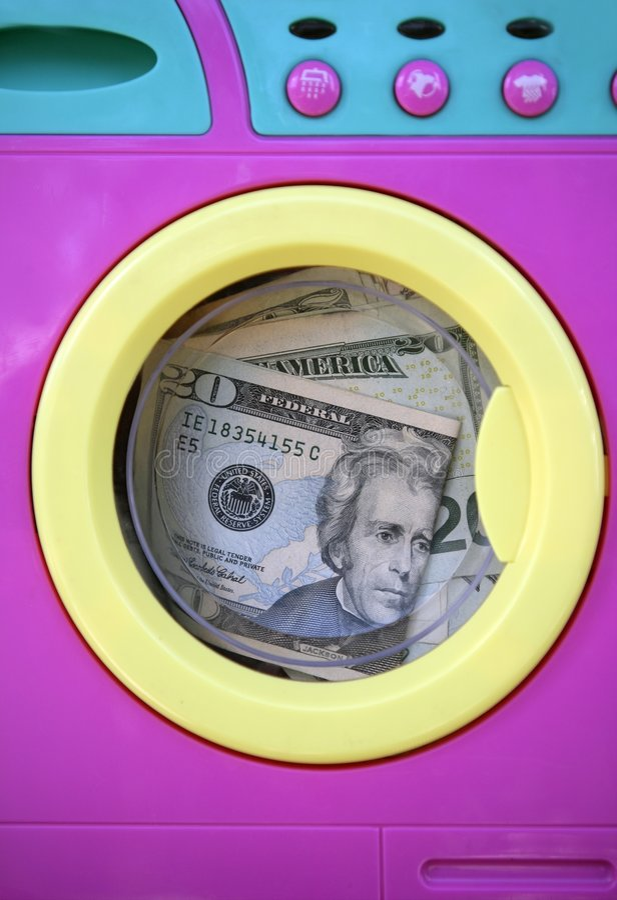 Download Cleaning Black Money Dollar Metaphor Stock Image - Image: 8982401