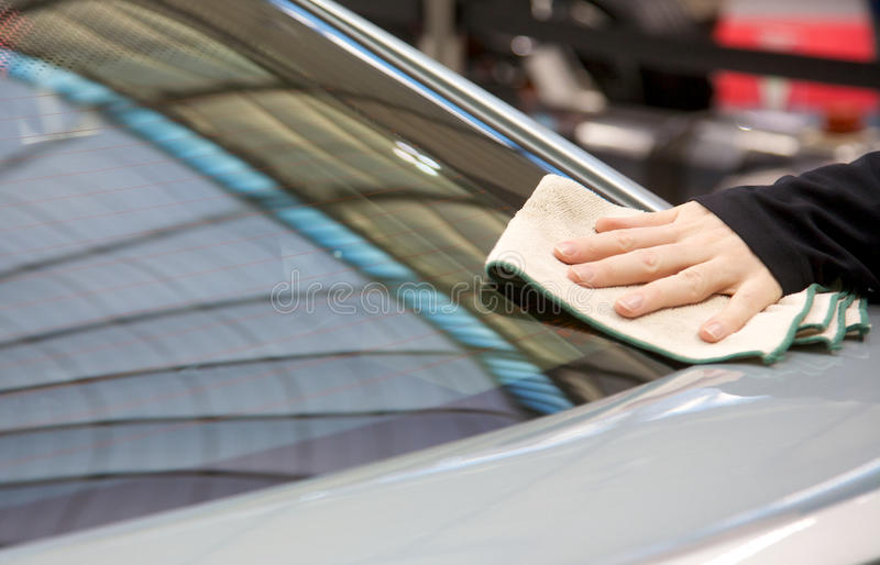 Download Cleaning the car stock photo. Image of wiping, automobile - 24235692