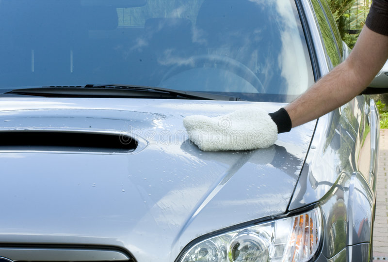 Download Cleaning the Car stock image. Image of scrub, carwash - 9065961