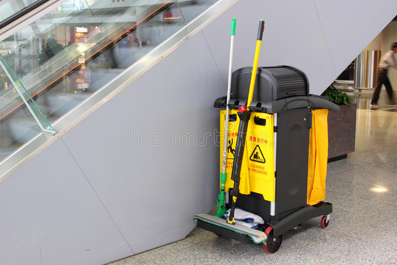Cleaning Cart royalty free stock images