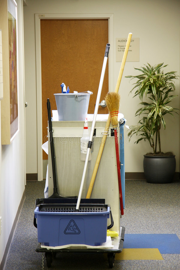 Free Cleaning Cart Stock Image - 6558621