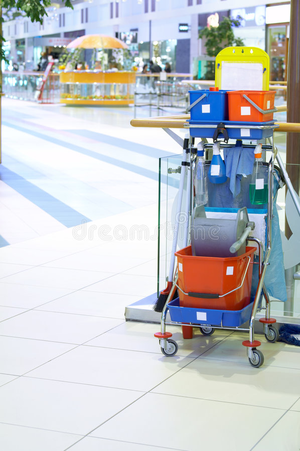 Cleaning cart royalty free stock image