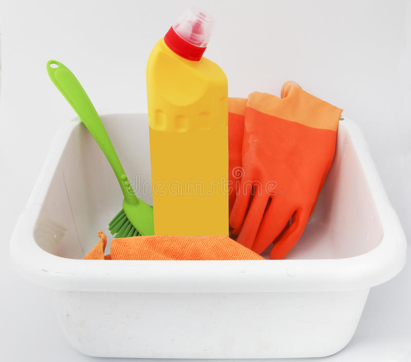 Cleaning with chlorine royalty free stock image