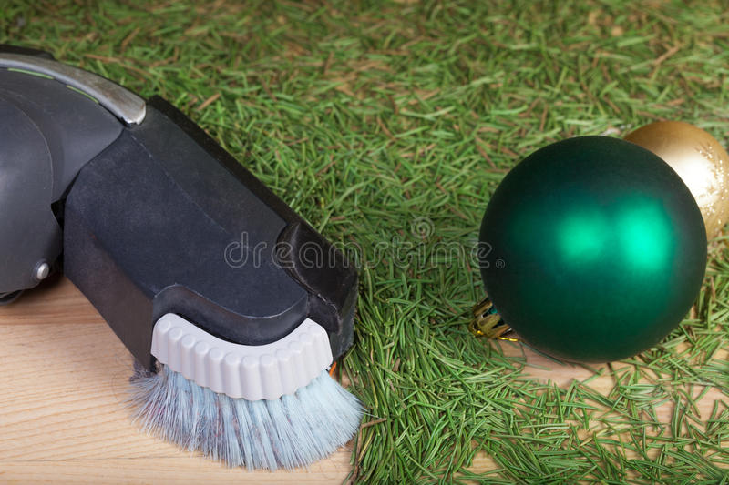 Cleaning after the Christmas party stock images