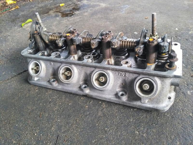 Cleaning for cylinder head stock photo