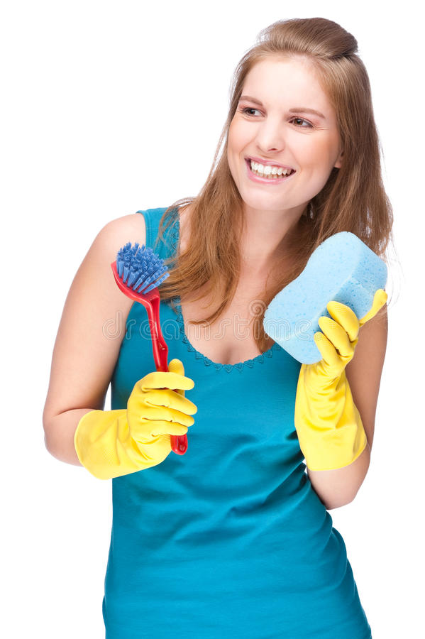 cleaning dama obrazy royalty free