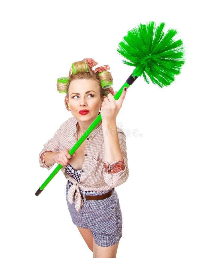 Cleaning dama zdjęcia royalty free