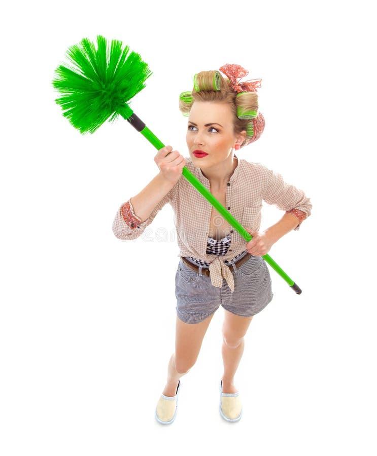 Cleaning dama zdjęcia stock