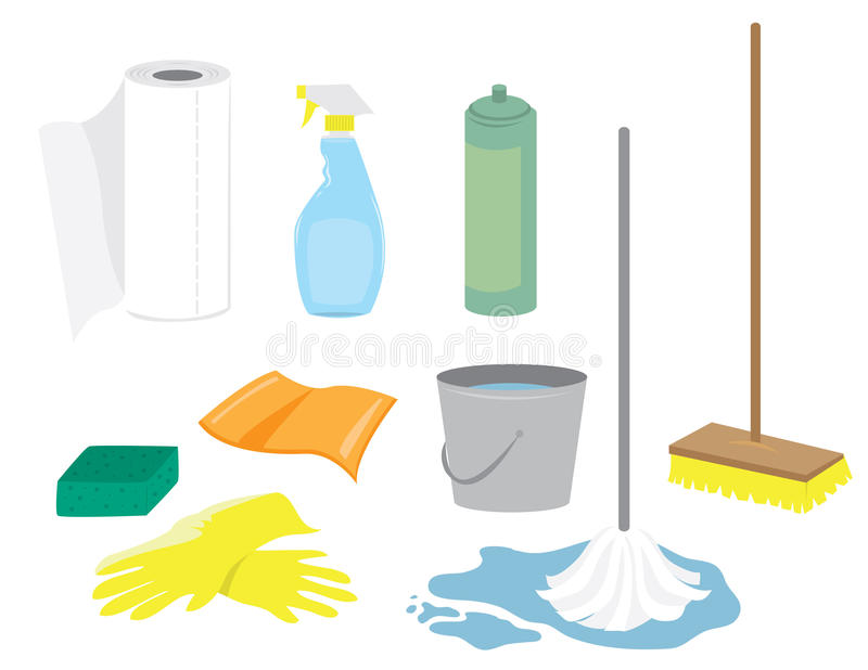 cleaning dostawy royalty ilustracja