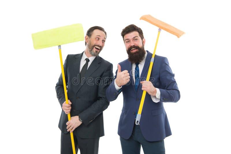 cleaning du?y dzie? Cleaning biznes Gospodarstwo domowe obowi?zki Czy?ci us?ugowy poj?cie Zakrywa nasz ślada zanim someone znalez zdjęcie stock