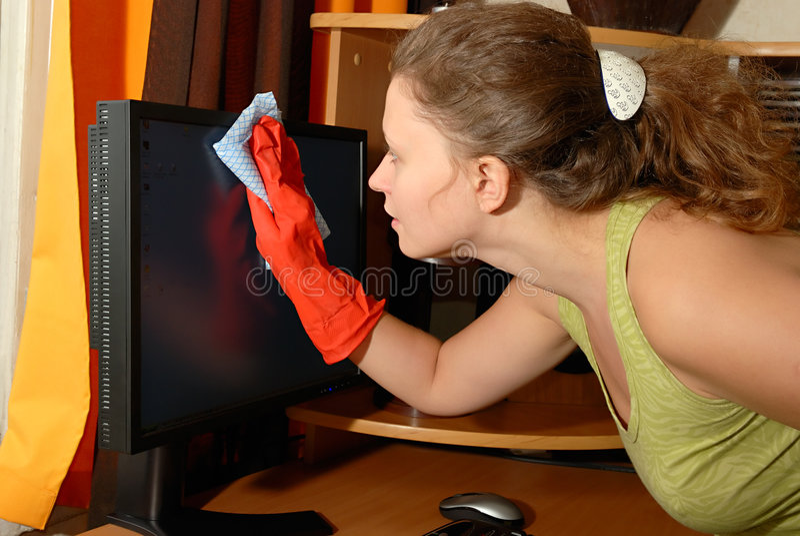 cleaning dziewczyny potomstwa obraz royalty free