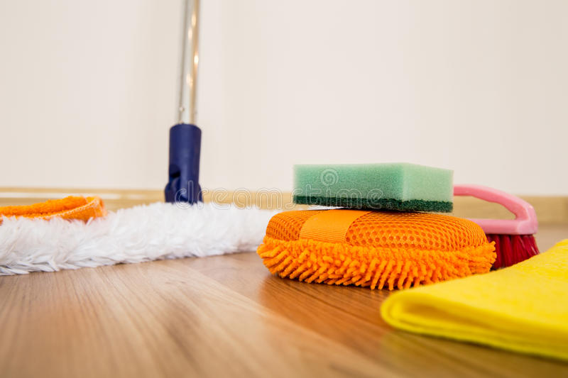 Cleaning equipment stock image