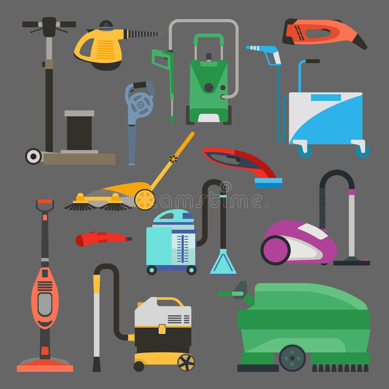 Download Cleaning Equipment Vector Set. Stock Vector - Image: 83713724