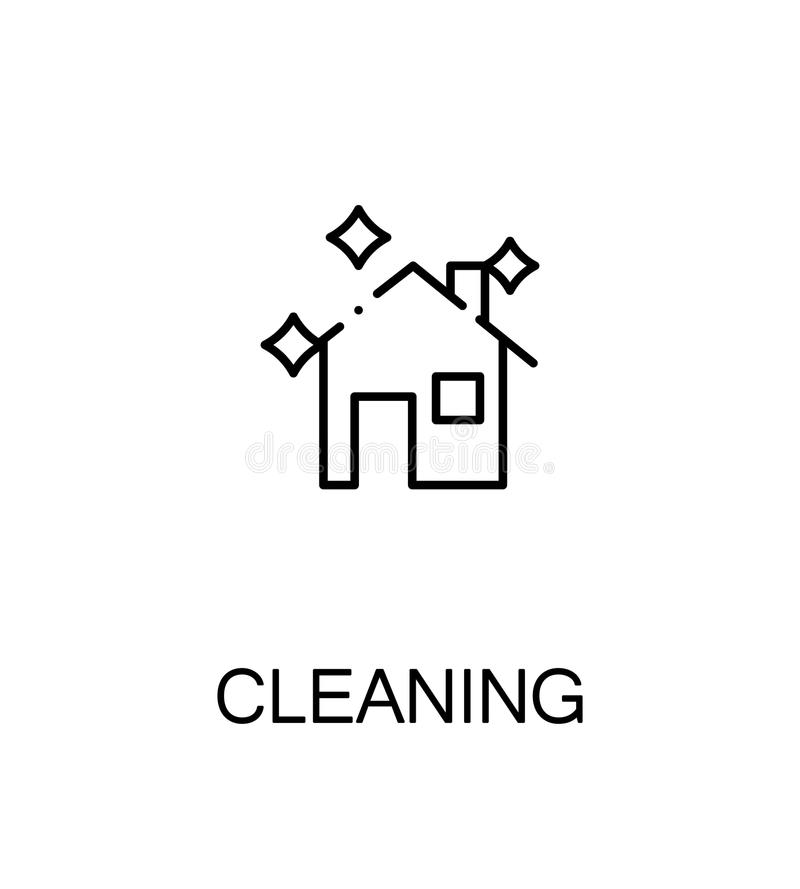 Cleaning flat icon stock illustration