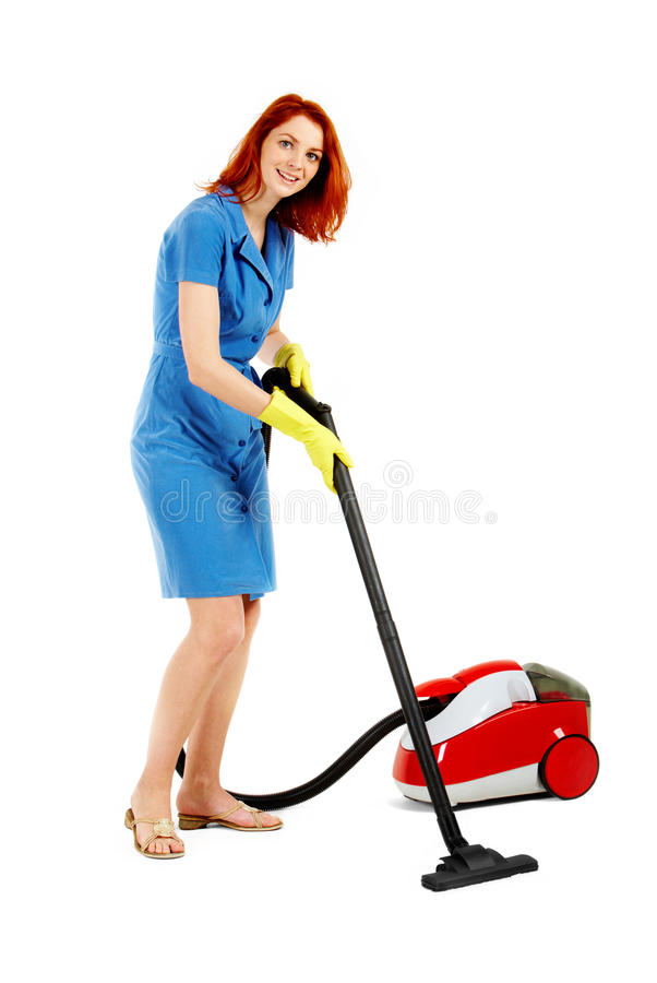 Cleaning floor stock photography