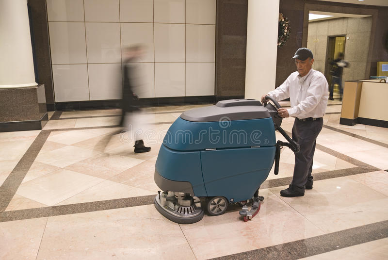 Download Cleaning floor stock photo. Image of buffing, professional - 24591838