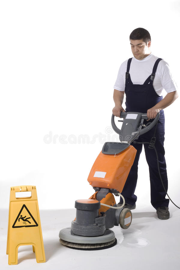 Download Cleaning Floor With Machine Stock Image - Image: 25588947